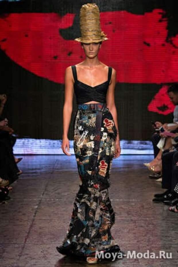 Модные юбки весна-лето 2015 Donna Karan