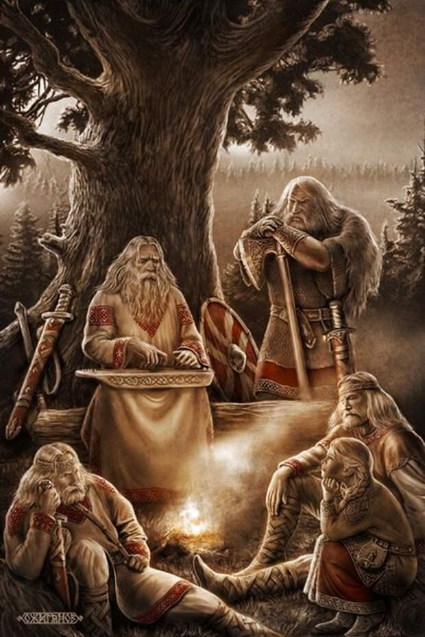 Скандинавская и славянская мифология в картинах Игоря Ожиганова.