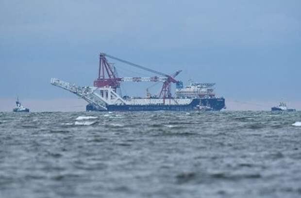 The Russian pipe-laying ship