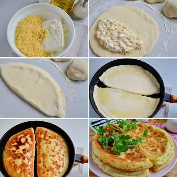 """Ммм!!! """"Хачапури с творогом и сыром"""""""