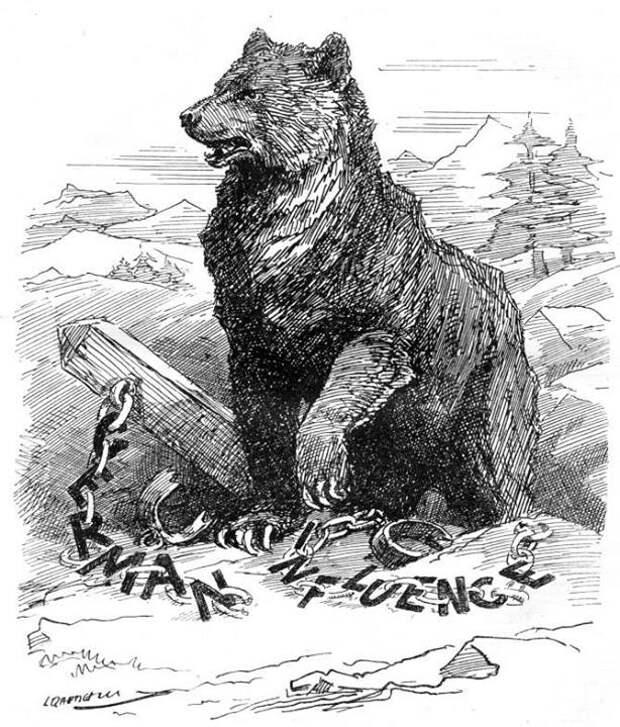 1917 Англия медведь, россия