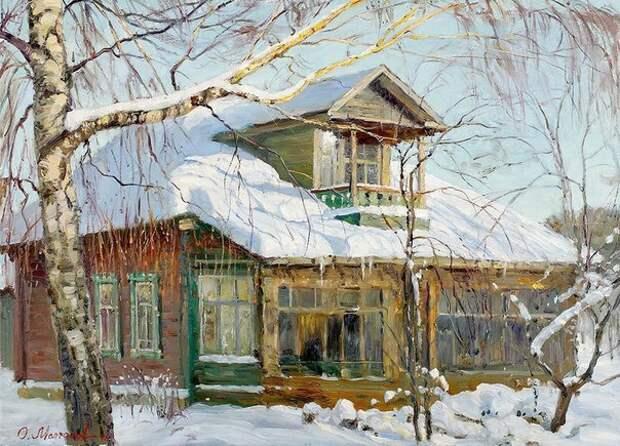 Русская зима в работах художника Олега Молчанова