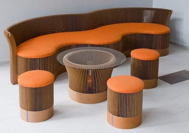 Мебель из картона своими руками: 2 мастер-класса