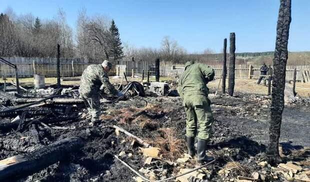 Выжившим в пожаре с 5 погибшими детьми под Тагилом дадут временное жилье