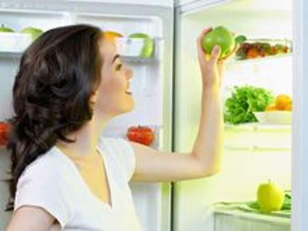 Хранение продуктов питания в холодильнике