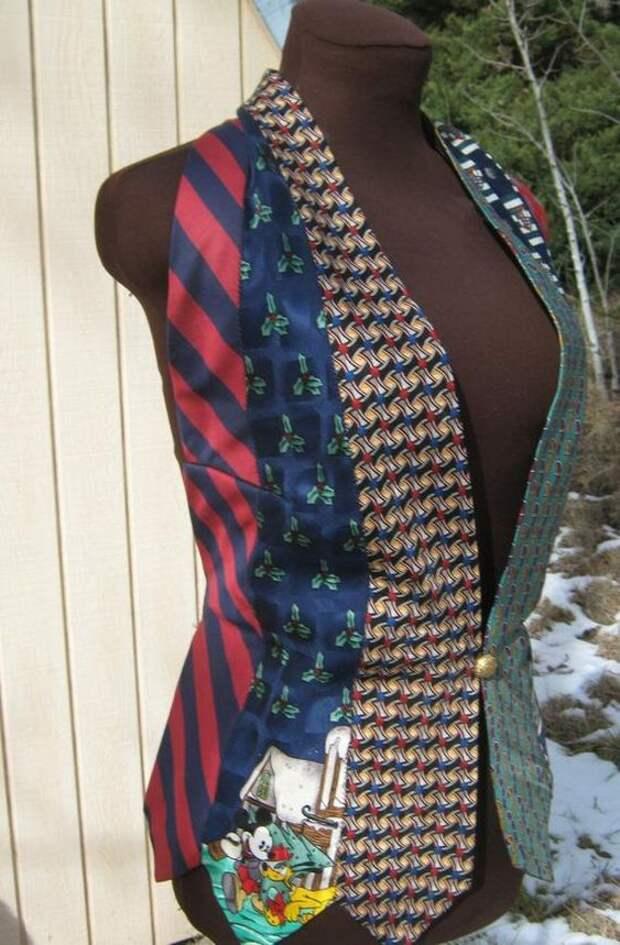 пэчворк переделка галстука своими руками