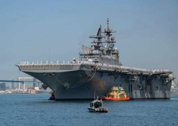 Новый десантный корабль ВМС США прибыл на военно-морскую базу в Сан-Диего