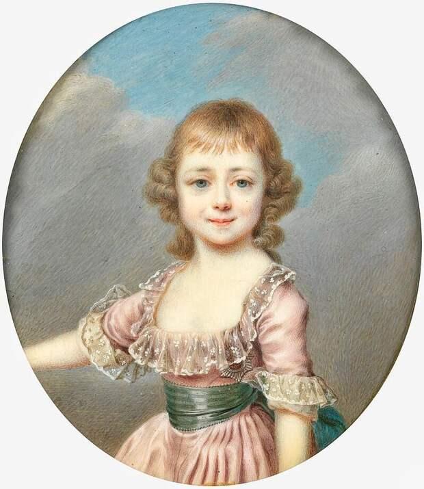 маленькая великая княжна Екатерина Павловна (картина Левицкого 1796 год)