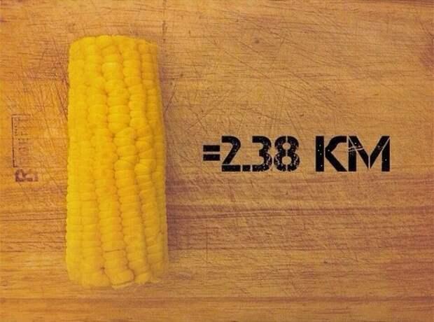 Початок вареной кукурузы бег, еда, каллории