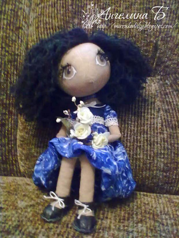 """Текстильная кукла - """"тыквоголовка"""", мастер-класс"""