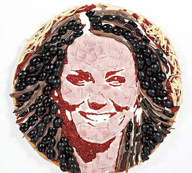 Prudence Staite: портреты из пиццы