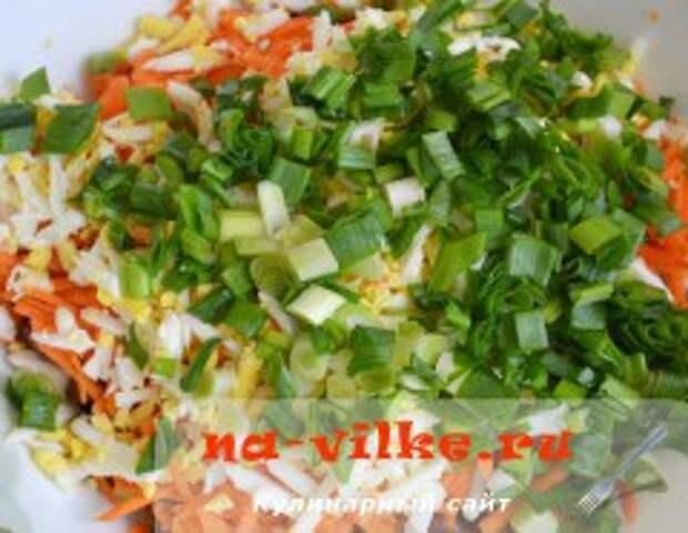 Салат с фасолью и куриным филе