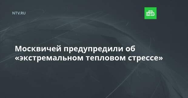 Москвичей предупредили об «экстремальном тепловом стрессе»