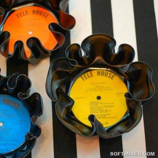 Поделки из виниловых пластинок