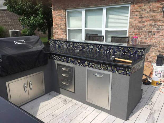 Открытая уличная кухня идея, красиво, открытая кухня, удобно