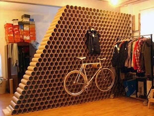 Идея для хранения велосипеда