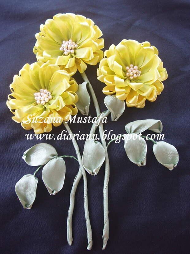 вышивка летнами. хризантемы (15) (525x700, 223Kb)