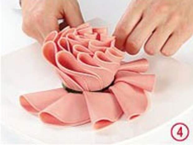 Закуски из ломтиков вареной колбасы  : мастер-класс