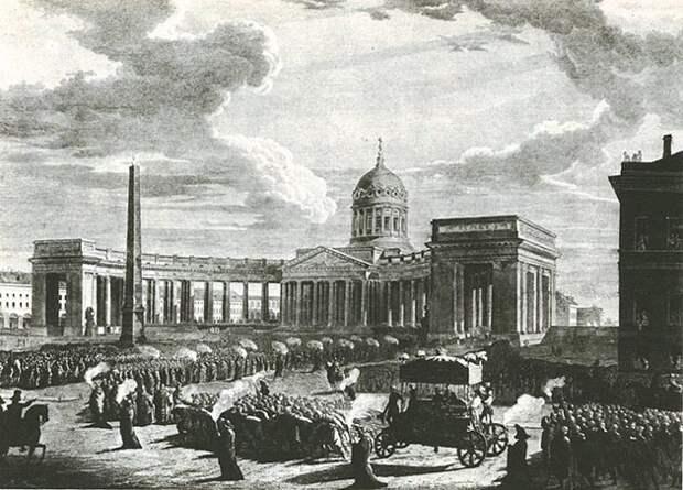 Похороны М. И. Кутузова. Гравюра М. Н. Воробьева, 1814 год.jpg