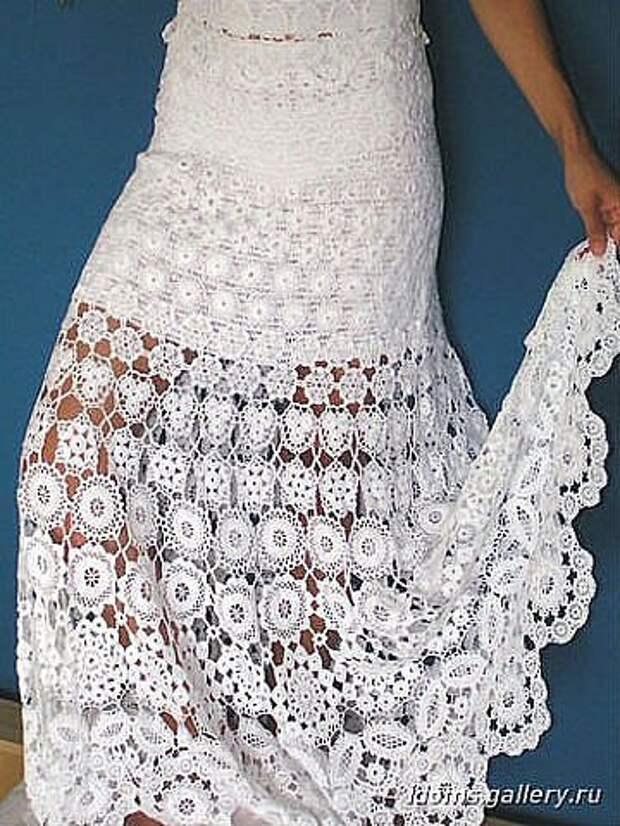 ВЯЖЕМ... Потрясающей красоты юбку (схемы)