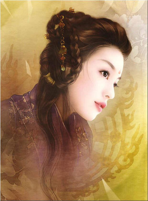 Роскошные портреты китаянок в работах тайваньской художницы