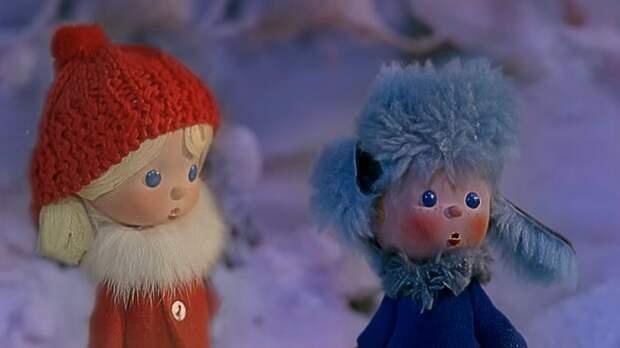 Кадр из мультфильма по сказке.