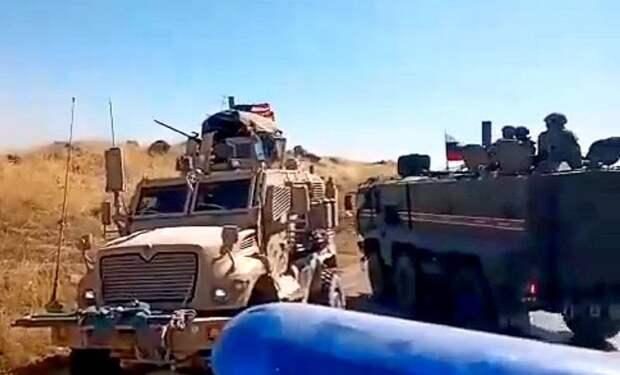 Ранены военнослужащие США: как русские и американцы не поделили дорогу в Сирии