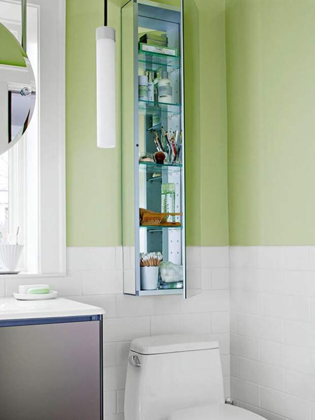 Фотография: Ванная в стиле Современный, Квартира, Прочее, Советы, Системы хранения, Порядок, Организация пространства, Хранение мелочей, Хозяйке на заметку – фото на InMyRoom.ru