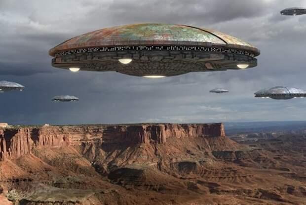 Реальные встречи с поистине огромными НЛО