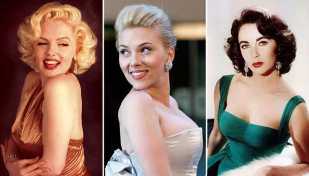Знаменитости, которые похожи, как две капли воды: Элизабет Тейлор, Анджелина Джоли, Одри Хепберн и д