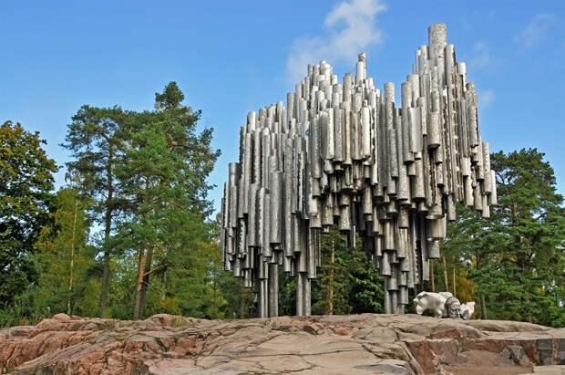Памятник композитору Яну Сибелиусу, Хельсинки, Финляндия, Европа