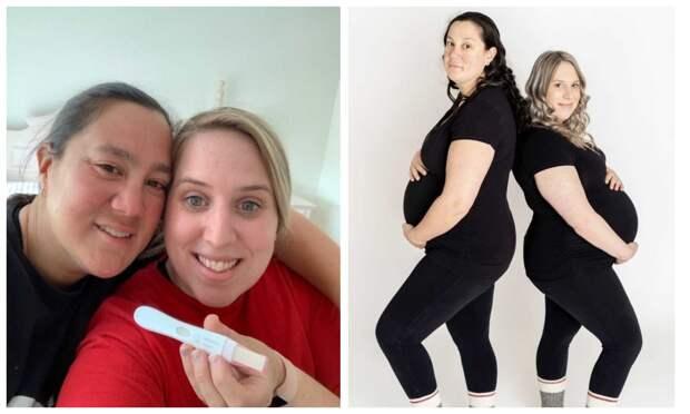 Как супруги-лесбиянки одновременно забеременели и родили «двойню»