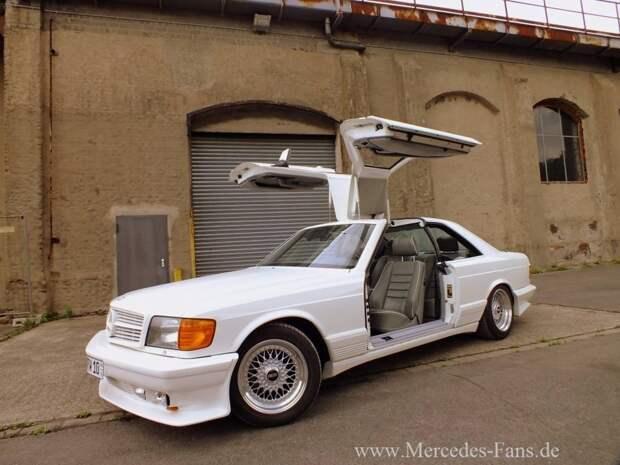 Автомобиль использовался как выставочный экземпляр, для привлечения понтярщиков — арабских шейхов. gullwing, mercedes, mercedes-benz, тюнинг