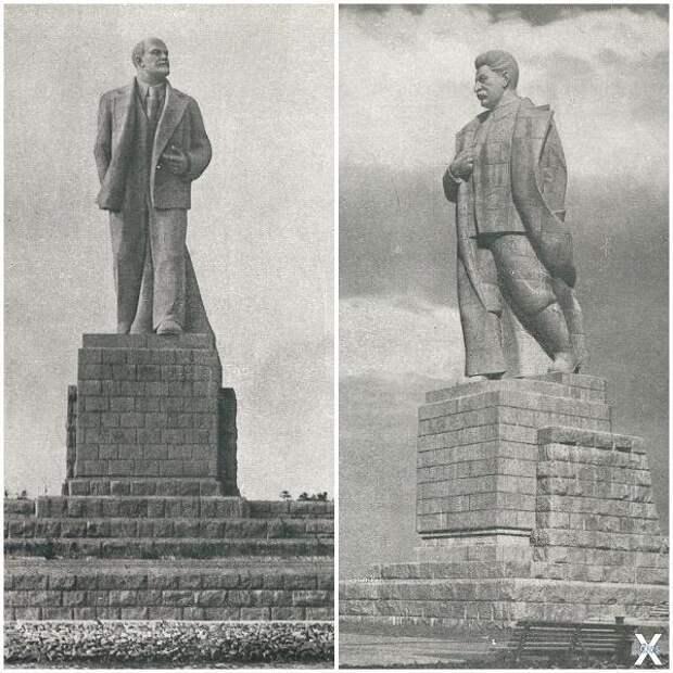 Памятники Ленину и Сталину на канале ...