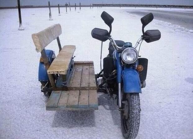 Общественный транспорт из мотоцикла