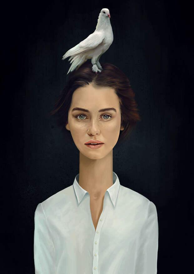 Меланхоличные женские портреты