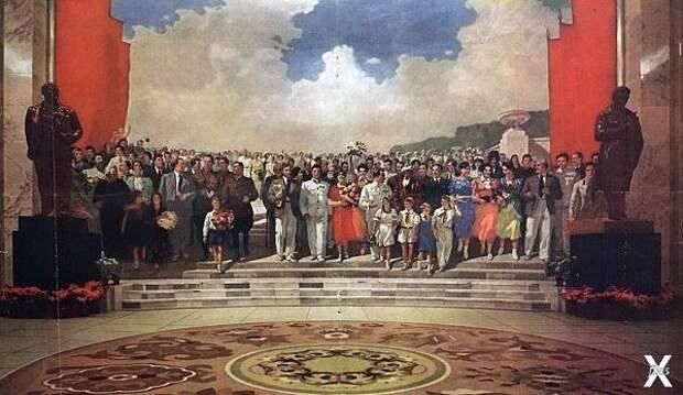 Панно «Знатные люди Страны Советов»