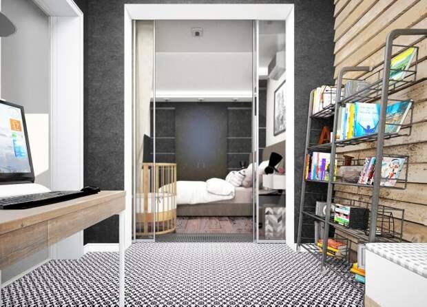Кабинет на веранде, кабинет при спальне