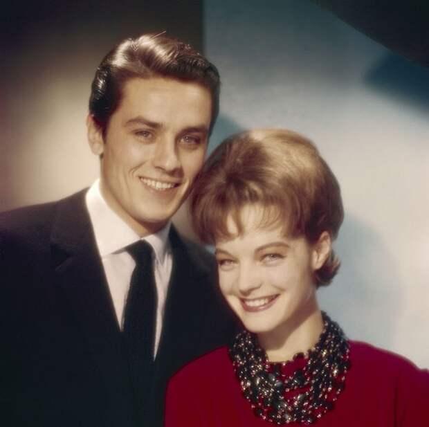 Роми Шнайдер и Ален Делон в фотосессии Уолтера Карона, 1961 год