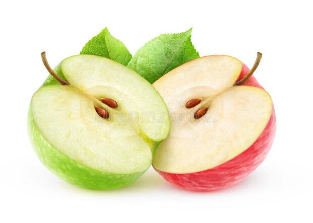 2 половины яблока стоковое изображение. изображение насчитывающей предмет -  73184239