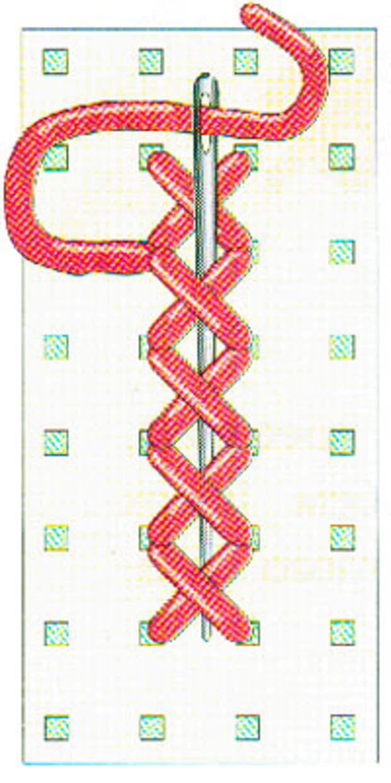 Вышивание крестиком по вертикали. Движение вперед (фото 8)
