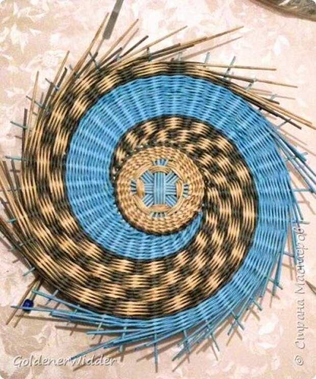 Мастер-класс Плетение Панно 40 см Спиральное плетение Бумага газетная Трубочки бумажные фото 24