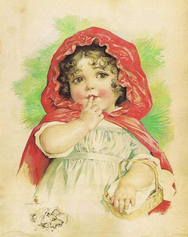 Maud Humphrey. Красная Шапочка / Little Red Riding Hood