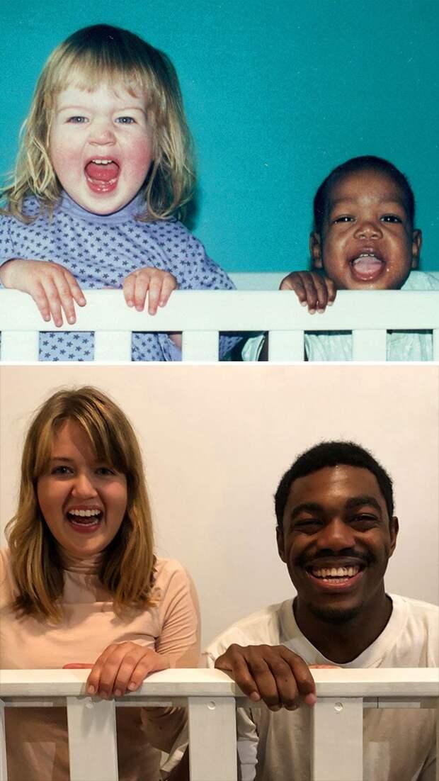 25 человек, воссоздавшие свои семейные фотографии много лет спустя
