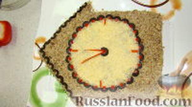 """Фото приготовления рецепта: Салат """"Часы"""" - шаг №12"""