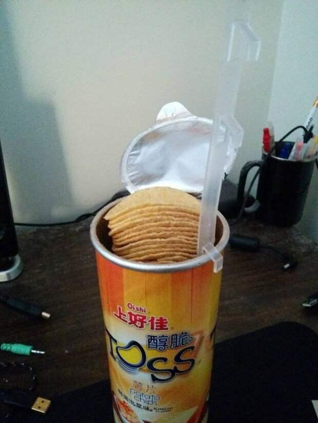 Прибор для доставания чипсов жизнь, изобретения