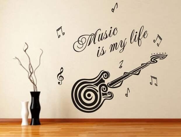 Музыка в интерьере. 53 фото