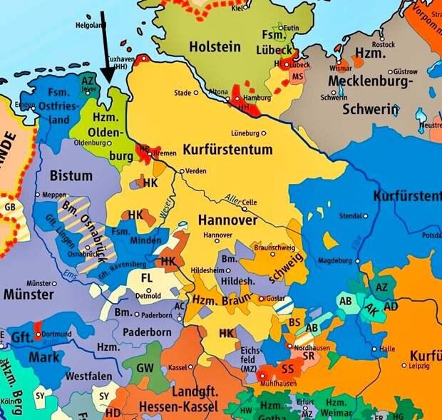 Герцогство Ольденбургское стрелкой