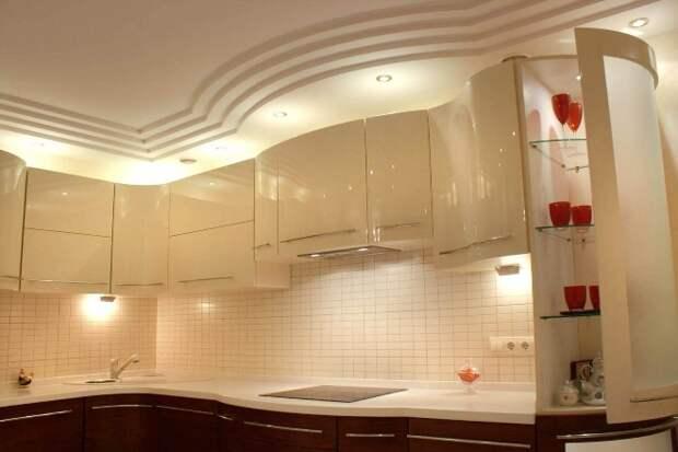 Потолок из гипсокартона для кухни: фото, интересные решения (51 фото)