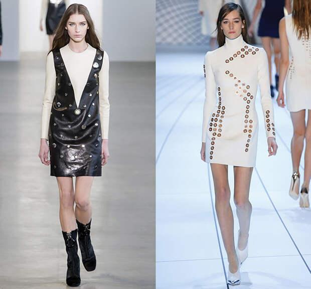 Слева — Calvin Klein, справа — Mugler